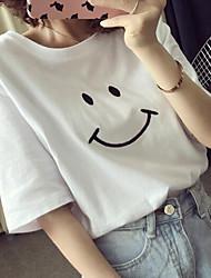 Damen Druck Einfach Lässig/Alltäglich T-shirt,Rundhalsausschnitt Sommer Kurzarm Andere