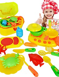 Global Drone 326 739 16pcs/set Baby Kitchen Toys Artificial Tableware House Kid's Cooking Pots Children Pretend Play Toys
