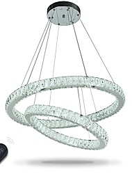 LED Indoor Crystal Chandeliers Pendant Light Ceiling Lights Dimmable Lighting with Remote Control