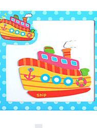 Jigsaw Puzzles Wooden Puzzles Building Blocks DIY Toys Ship Bicycle
