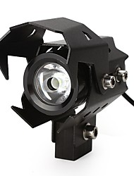 U8 led spotlights moto phare de la moto high low flash feux lumière de la tête imperméable à l'eau
