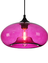 Modern Characteristic 1 Light Pendant With Transparent Shade