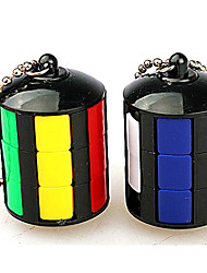 Rubik's Cube Smooth Speed Cube Stress Relievers Magic Cube Key Chain Plastics ABS