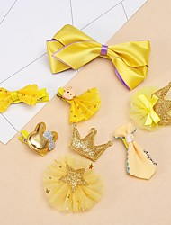 Crown Hairpin Gift Set Girl Birthday Gift Princess Hairy Duckbill Folder Children Hair Ornaments