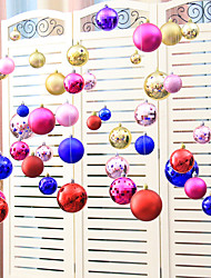 A Set Of(20 pc)Random Color  EVA Christmas Ball Chain Ornaments Decorated New Year Wedding Party Festive Scene Decoration Home Layout