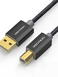USB 2.0 Cable, USB 2.0 to USB tipo B Cable Macho - Macho 3,0 M (10 pies)