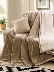 Супер мягкий Сплошной цвет Шерсть/хлопок одеяла