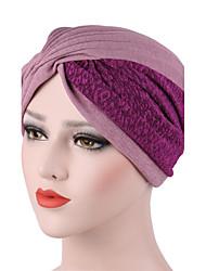 Для женщин Шапки Цветы Широкополая шляпа,Весна/осень Зима Хлопок Пэчворк Чистый цвет