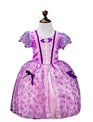 One-Piece/Dress Princess Fairytale Festival/Holiday Halloween Costumes Purple Vintage Dresses Halloween Carnival Children's Day Kids Girls