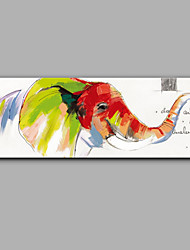 Hand-Painted Animal The Elephant Modern One Panel Canvas Oil Painting For Home Decoration Unframed