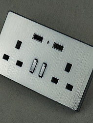 Electrical Outlets Stainless Steel With USB Charger Outlet 8*8*4