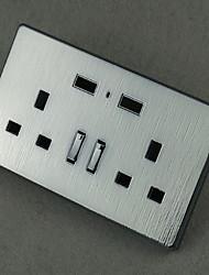 Enchufes electricos Acero Inoxidable Con cargador USB Outlet 8*8*4