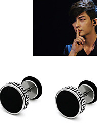 Men's Stud Earrings Jewelry Circular Costume Jewelry Surgical Steel Circle Jewelry For Party Office/Career Dailywear