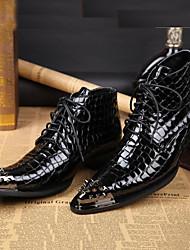 Homme Bottes Bottes Moto Botillons boîtes de Combat Chaussures formelles Bottes de Cowboy / Western Bottes Cavalières Bottes à la Mode