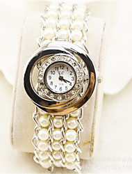 Women's Fashion Watch Quartz Pearl Band White