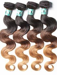 Âmbar Cabelo Peruviano Onda de Corpo 18 Meses 4 Peças tece cabelo kg Mechas Rápidas Tecidas