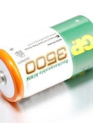 Gp перезаряжаемая батарея nimh 3500mah 1.2v