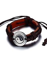 Men's Leather Bracelet Friendship Fashion Vintage Bohemian Punk Hip-Hop Rock Stretch Turkish Gothic Movie Jewelry Luxury Costume Jewelry