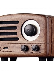 MAO KING MW-2 Radio Red Core Wood Portable Bluetooth Speakers