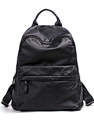 Women Backpack PU All Seasons Casual Sports Outdoor Office & Career Traveling Round Ruffles Zipper Yellow Gray Red Black