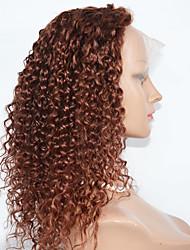Parrucche ricci di capelli ricci parrucche di capelli ricci di 10-24inch parrucche dei capelli anteriori del merletto più venduto per le