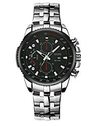 Men's Fashion Watch Quartz Stainless Steel Band Casual Black White