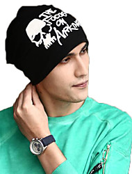 Men Women Printed Skullies Beanies Sleeve Cap Hat
