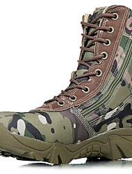 Men's Boots Bootie Fall Winter Canvas Hiking Shoes Athletic Casual Outdoor Green 1in-1 3/4in