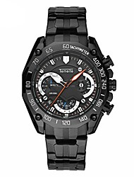 Men's Fashion Watch Quartz Stainless Steel Band Casual Black Silver Gold