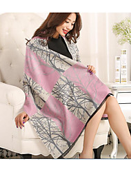 Women's Silk Cotton Bamboo Fiber Rectangle Print Summer