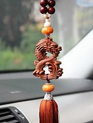 Diy pendentes automotivos dragão chinês dragão símbolo da paz carro pingente&Ornamentos lenhosos