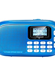 Q16 Radio portable Radio FM Enceinte interne Carte Micro SDWorld ReceiverOr Rouge Bleu