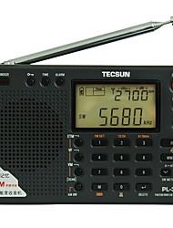 PL-380 Radio portable Radio FM Enceinte interne Fonction réveille Noir Argent Gris