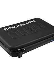 QQT for gopro hero 4 carbon fiber accessories waterproof travel camera bag for gopro hero 5/4/3  / 3/2 sjcam xiaomi yi 4 K