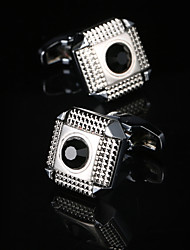 New Men's Jewelry Shirt Fashion Cufflinks for Mens Brand Silver Cuff link Wholesale Luxury Buttons High Quality Crystal Gemelos