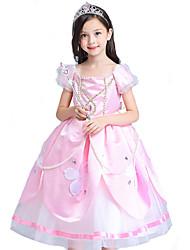 Costumes de Cosplay Bal Masqué Princesse Conte de Fée Cosplay Fête / Célébration Déguisement d'Halloween Rose Violet Rétro RobesHalloween