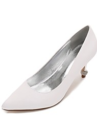 Feminino Sapatos De Casamento Conforto Plataforma Básica Cetim Primavera Verão Casamento Social Festas & Noite Pedrarias Gliter com Brilho