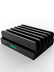 Chargeur USB 6 Ports Station de chargeur de bureau Avec identification intelligente Stand Dock Adaptateur de charge