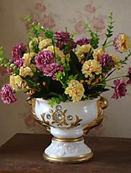 1 Branch Plastic Hydrangeas Plants Tabletop Flower Artificial Flowers Living Room Bedroom Decoration Flower Pastoral Style Wedding Supplies