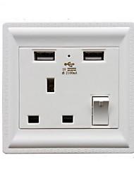 Enchufes electricos PP Con cargador USB Outlet 8*8*4