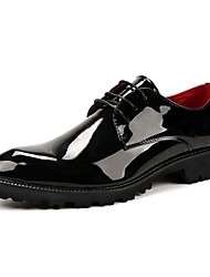 Men's Shoes PU Fall Winter Formal Shoes Wedding Shoes For Casual Party & Evening Black Red Blue