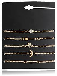 Lureme® Women's Bracelet Jewelry Basic Bohemian Adjustable Rock Hypoallergenic Simple Style Elegant Alloy Circle Star Geometric ForParty