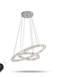 LED Modern Crystal Chandeliers Indoor Pendant Light Ceiling Lamp Lighting Fixtures Dimmable  with Remote Control