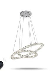 Led lustres modernos de cristal indoor pingente luz teto lâmpada acessórios de iluminação dimmable com controle remoto