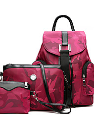 Women Bags All Seasons PU Bag Set with for Wedding Event/Party Casual Formal Office & Career Green Black Red Purple