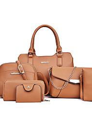 Damen Bag Sets PU Ganzjährig Normal Baguette Bag Reißverschluss Schwarz Rote Rosa Grau Braun