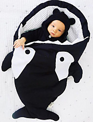 Baby Shark Pattern Cotton Climbing Warm Anti-kick Sleeping Bag Cartoon Quilt(85*55cm)