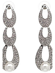 Women's Drop Earrings Imitation Pearl Rhinestone Sexy Oversized Bling Bling Alloy Drop Jewelry For Wedding Party Date