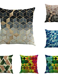 Set Of 6 Creative Abstract Geometry Pillow Cover Personality Sofa Pillow Case Home Decor