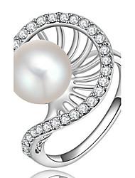 Settings Ring Band Ring Luxury Women's Euramerican Fashion Pearl Rhinestone Style Birthday Wedding Movie Gift Jewelry